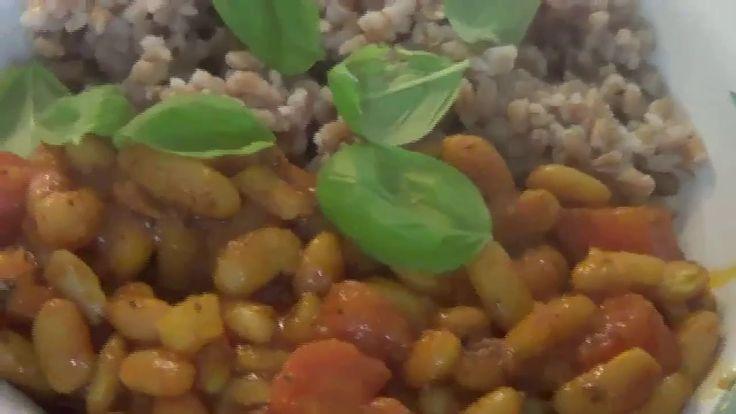 Weisse Bohnen mit Dinkelreis - veganes Rezept