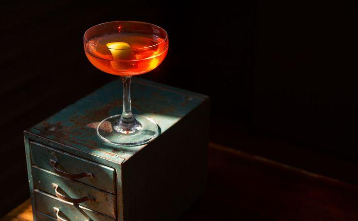 #Cocktail Inspiration : Archangel 60 ml #Gvine #Gin Floraison 2 slices of cucumber 20 ml Aperol Garnish with lemon twist