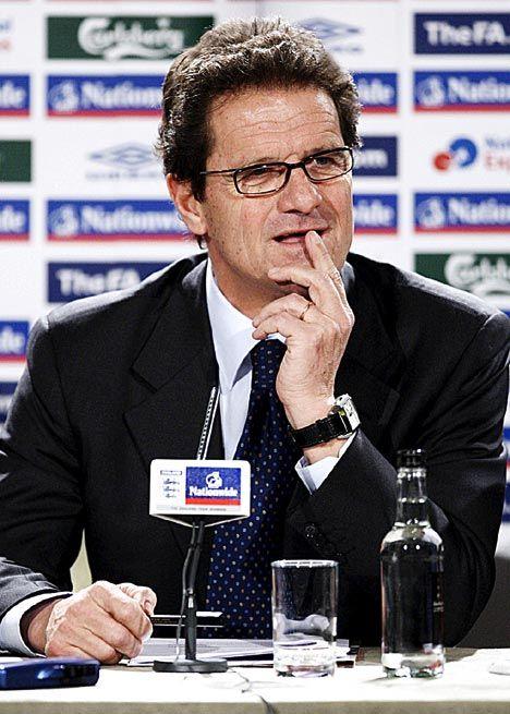 Fabio Capello. Jaeger LeCoultre watch