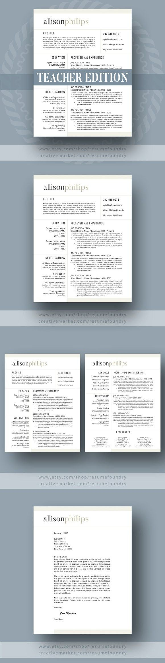 Teacher Resume Template - 1,2,3, Pag. Resume Templates