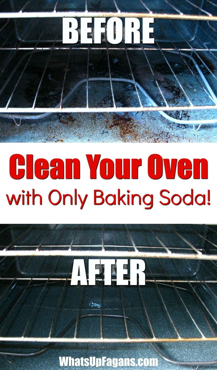 how to clean oven with baking soda and vinegar