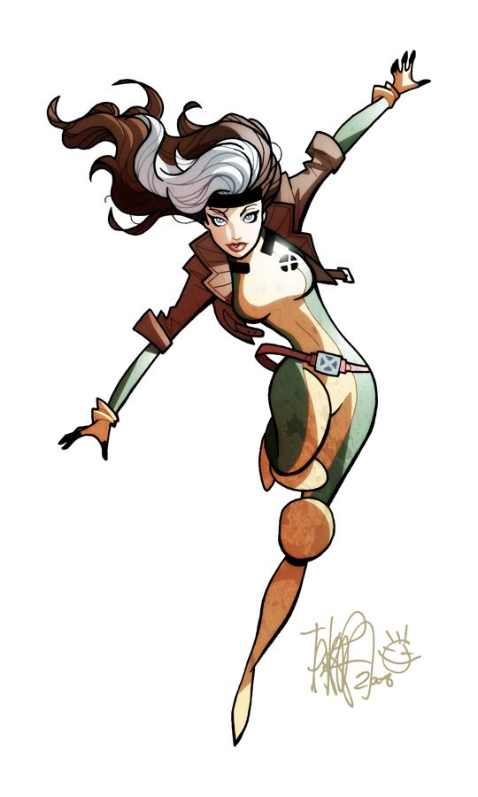 Rogue by Bruce Timm! Love her she's my favorite! And what a nice old school…