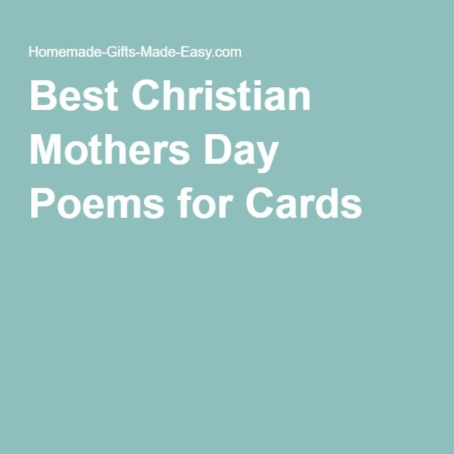 Best Christian Mothers Day Poems for Cards
