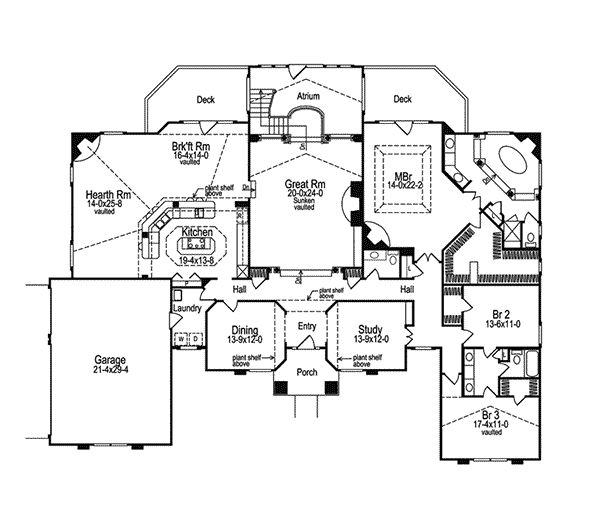 Atrium house plans house plans pinterest for House plans with atrium in center