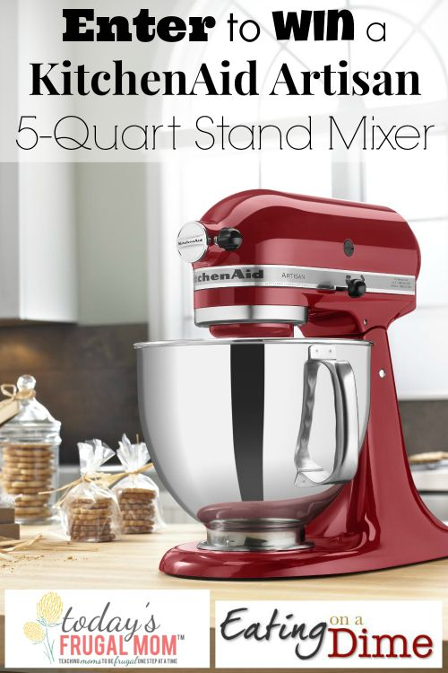 Enter to win a 5 Quart Kitchen Aid Mixer! Lots of ways to get extra entries. You will be mine!!! One day..