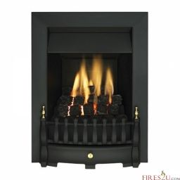 Stock item special price - The Valor Blenheim slimline inset gas fire is a low maintenance, high performance alternative to a real coal fire.  Both attractive and practical, the Valor Blenheim gas fire is suitable for homes with slimmer chimneys or flues. This gas fire can black finish