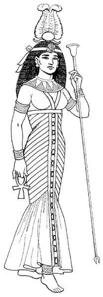 Женский костюм древнего египта иллюстрация