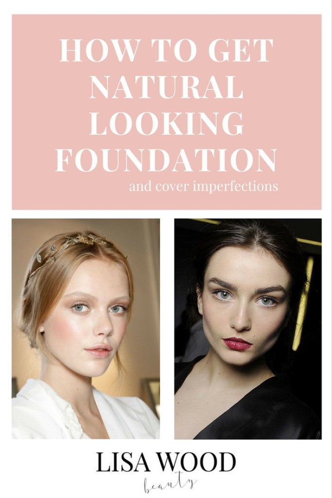 How to Get Natural Looking Foundation When You Have Imperfections. A blog tutorial on how to cover your imperfections without covering your whole face in foundation. You are left with a light, youthful and natural look.