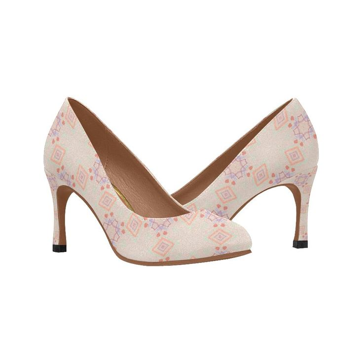 Dainty Pink Pattern Women's Pumps