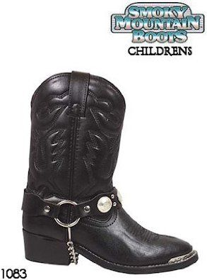 Smoky Mountain Boots Western Harness Concho 1083 Children Black Smoky Mountain Boots. $44.00