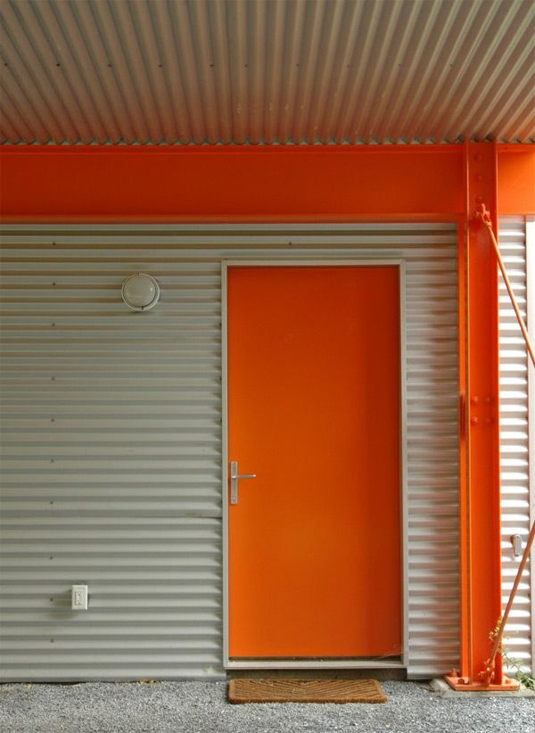 paint your front door a bold modern color to elevate your exterior no. Black Bedroom Furniture Sets. Home Design Ideas
