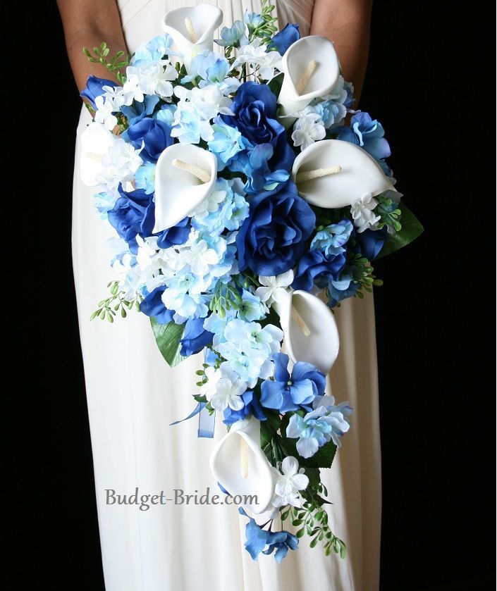 Fountain Blue Wedding Flower Brides Collection