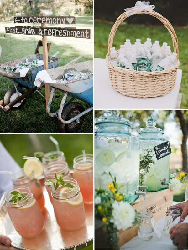 Qualche idea per rinfrescare gli ospiti in estate! via weddingwonderland.it
