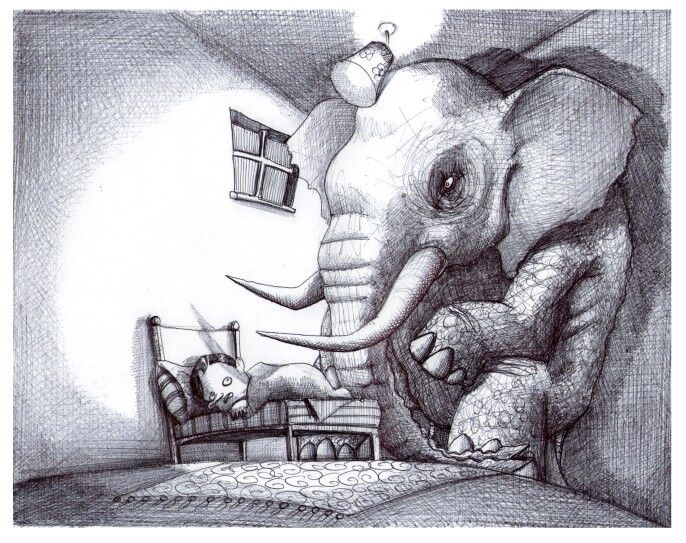 'The Bedroom'. Illustration by Chris Harrendence