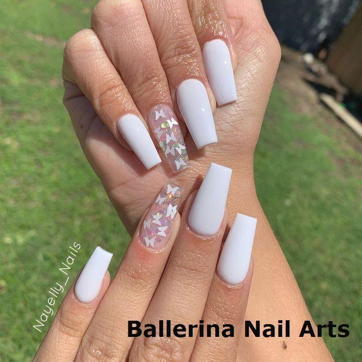 Angesagte Designs in Ballerina nails #naildesign
