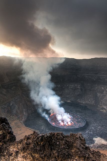 Nyiragongo Volcano | Please like, share, or repin. Thanks!' | For more Beautiful…