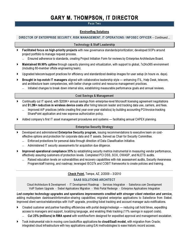 It Manager Resume Examples Simple Pinterest Resume examples