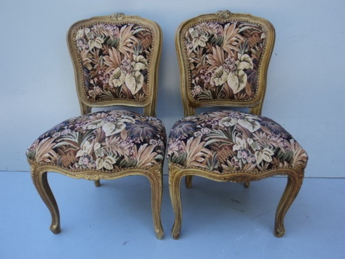 Re upholstered these two French toe chairs would be an asset to any French styled interior