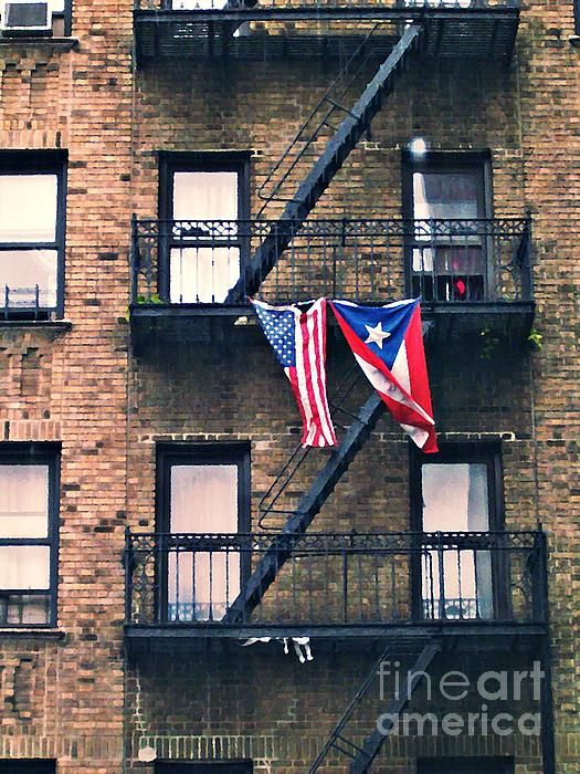 Two Flags in Washington Heights by S Loft