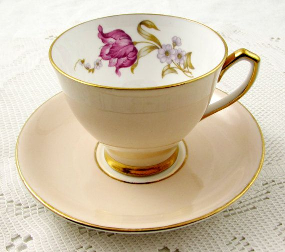 Hey, I found this really awesome Etsy listing at https://www.etsy.com/listing/292086201/peach-tea-cup-and-saucer-windsor-with