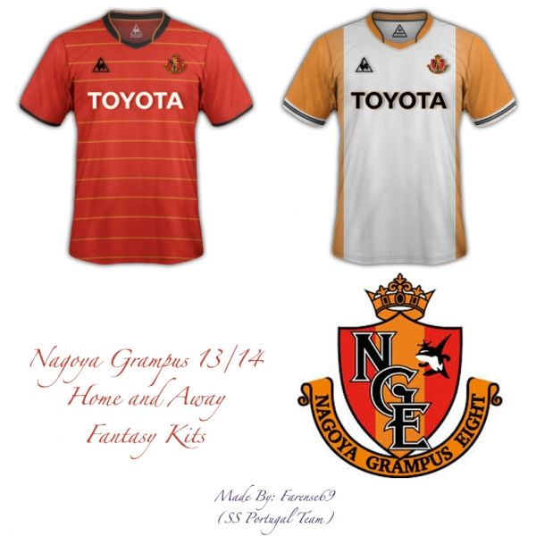 Nagoya Grampus 2013/2014 Home Away Fantasy Kits