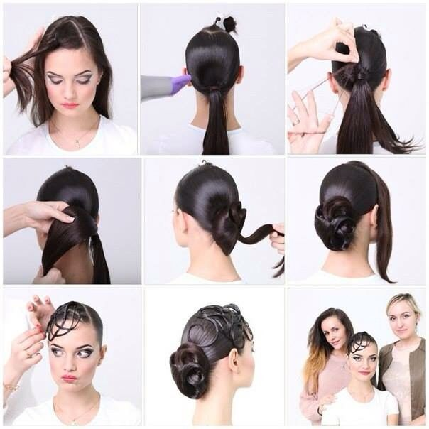 Awesome ballroom hair tutorial in pictures