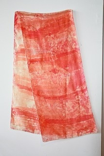 Vintage Silk Scarf in Sunset Hues Tye Dyed by ifoundgallery, $14.50