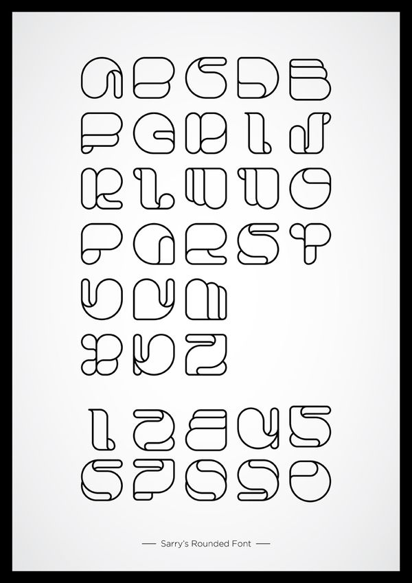 Sarry's Rounded. Source: Typography Served. Created By: Kairon