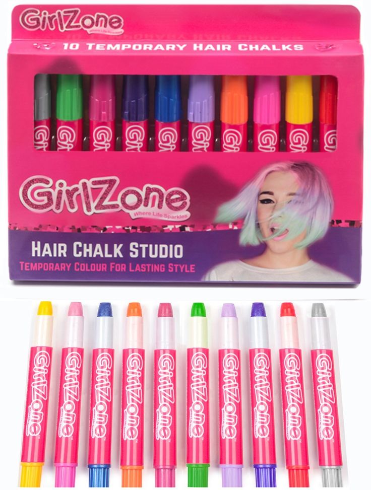 HAIR CHALKS CHRISTMAS GIFT: 10 Colorful Hair Chalk Pens. Temporary Color for Girls for All Ages. Makes a Great Christmas Birthday Gifts Present For Girls Age 4 5 6 7 8 9 10 years old * Find out more at the image link. #hairhack