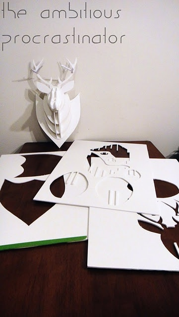 the wall says me, the deer - a DIY alternative to the expensive cardboard deer heads you can buy