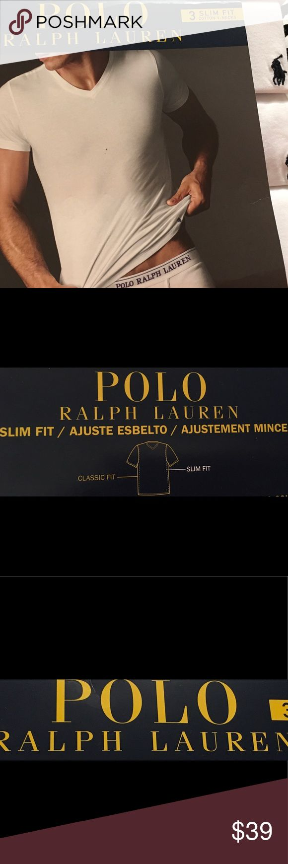 30% off Bundles Polo Ralph Lauren Slim Fit V-Necks NWTS POLO by Ralph Lauren 3 Slim Fit Cotton V-Necks. These come still in the package. Polo by Ralph Lauren Underwear & Socks Undershirts