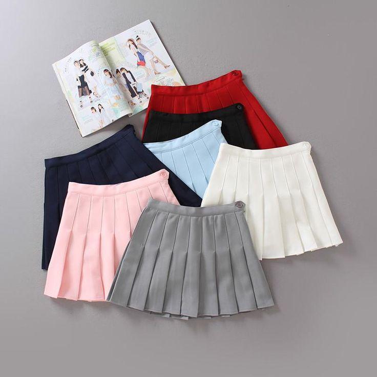 High waist college wind tennis pleated skirt YV224