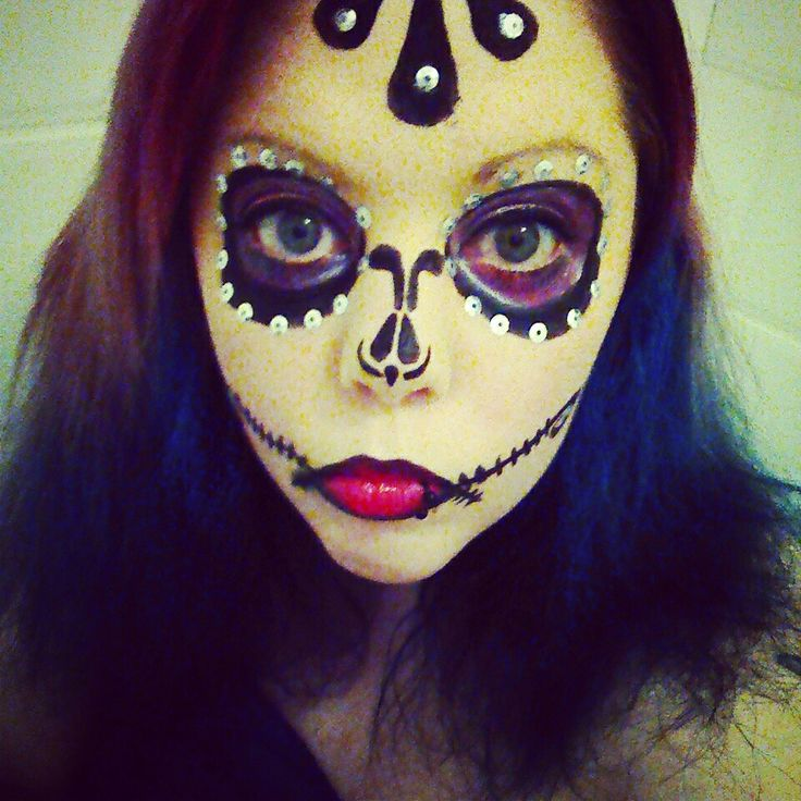 Sugarskull halloween makeup!