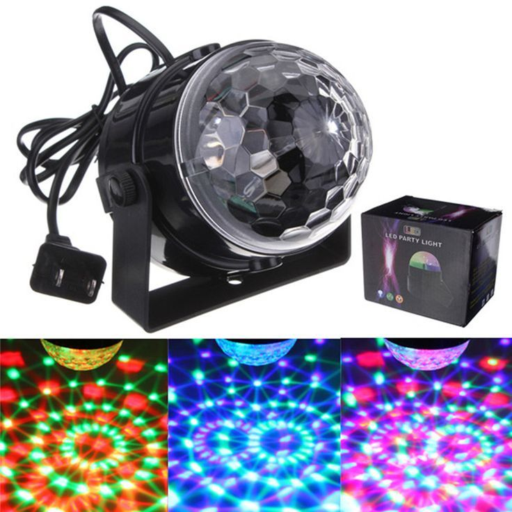 ARILUX® 5W Mini RGB LED Party Disco Club Light Crystal Magic Ball Effect Stag…