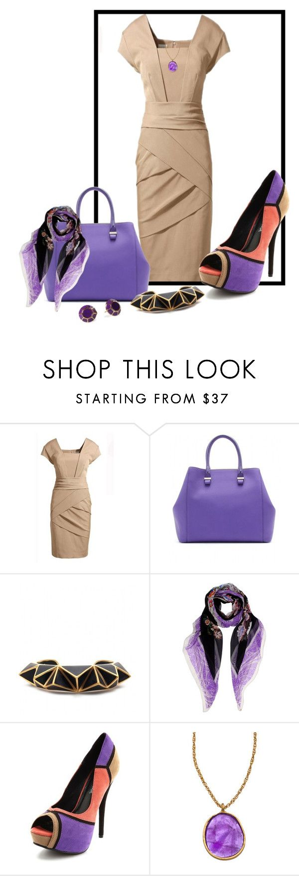"""""""Purple Passion"""" by mz-happy ❤ liked on Polyvore featuring Victoria Beckham, Isharya, Etro, Charlotte Russe, Kate Spade and PIARA by Elaine J"""