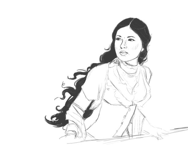 Third Daughter FAN ART!    My current work in progress, a fanart of Aniri from The Dharian Affairs by Susan Kay Quinn.  The books are set in an Indian inspired steampunk world (Bollypunk!) and are incredibly good.  Yo...
