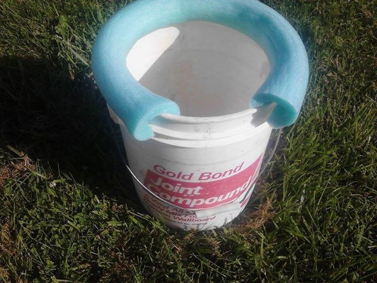 """For camping or an emergency """"Johnny on the Spot"""" when ya just gotta go .... use a plastic bucket and place a pool noodle on top for comfort."""