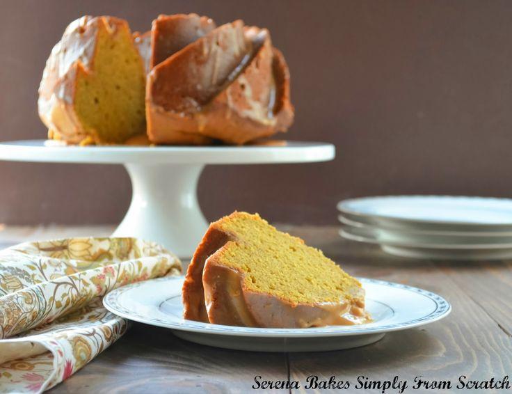 pumpkin spice bundt cake with caramel icing with caramel caramel cream ...