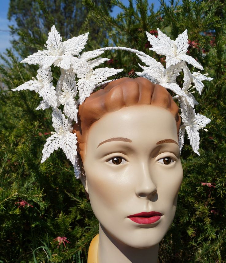Lace Millinery meets Halo Crowns, with some 1940s bridal inspiration