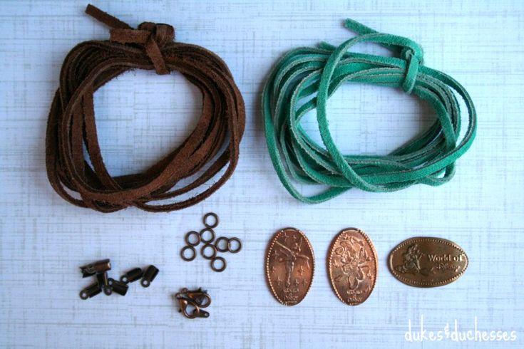 DIY Pressed Souvenir Penny Bracelet - Dukes and Duchesses