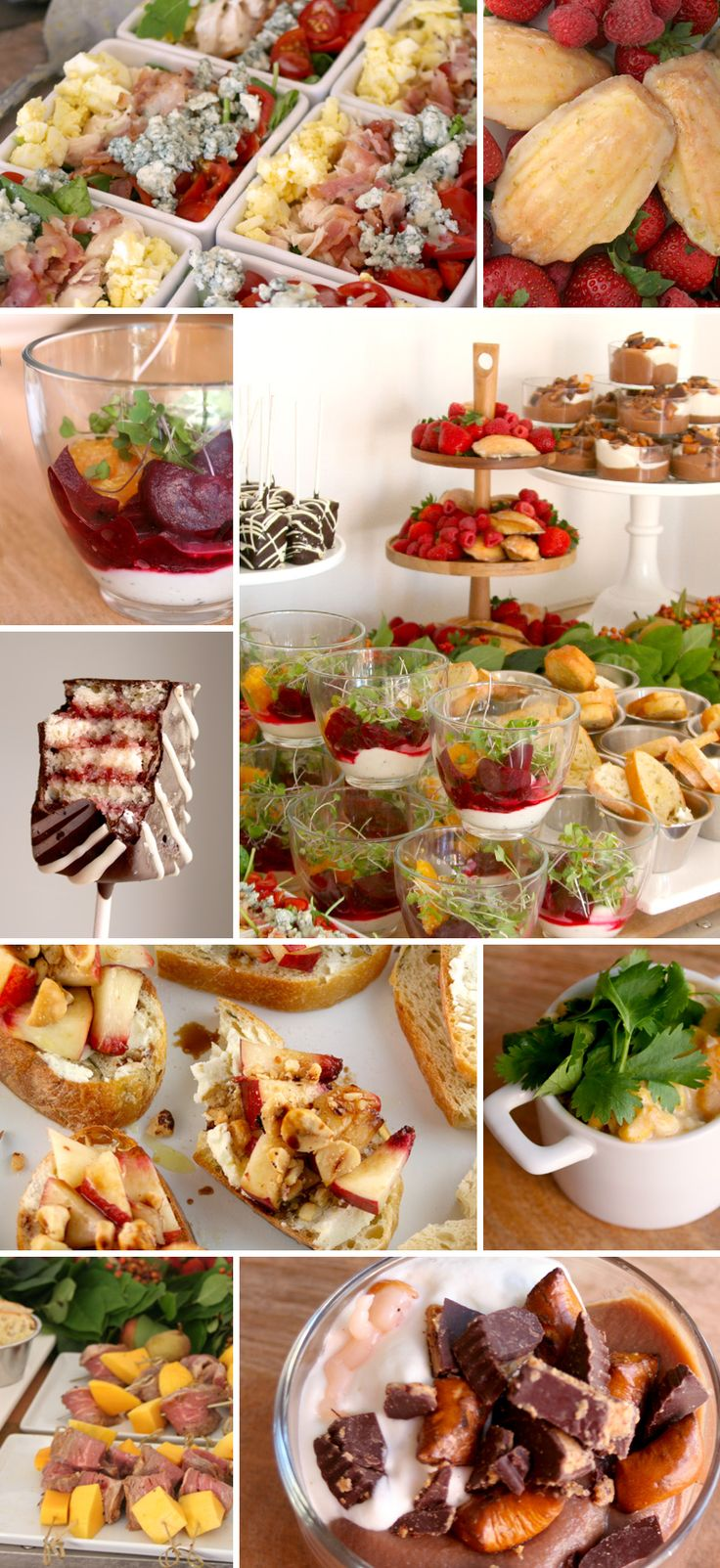 143 best mini salads salad bites images on pinterest for Best brunch menu