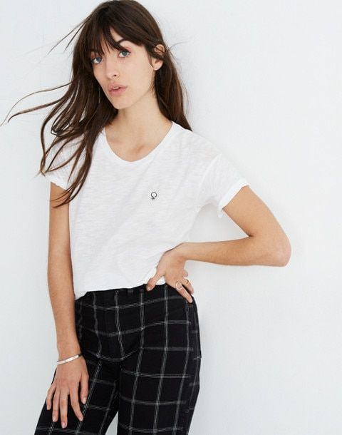 fc1e0829 Madewell x Girls Inc. Whisper Cotton Female Crewneck Tee | Wear ...