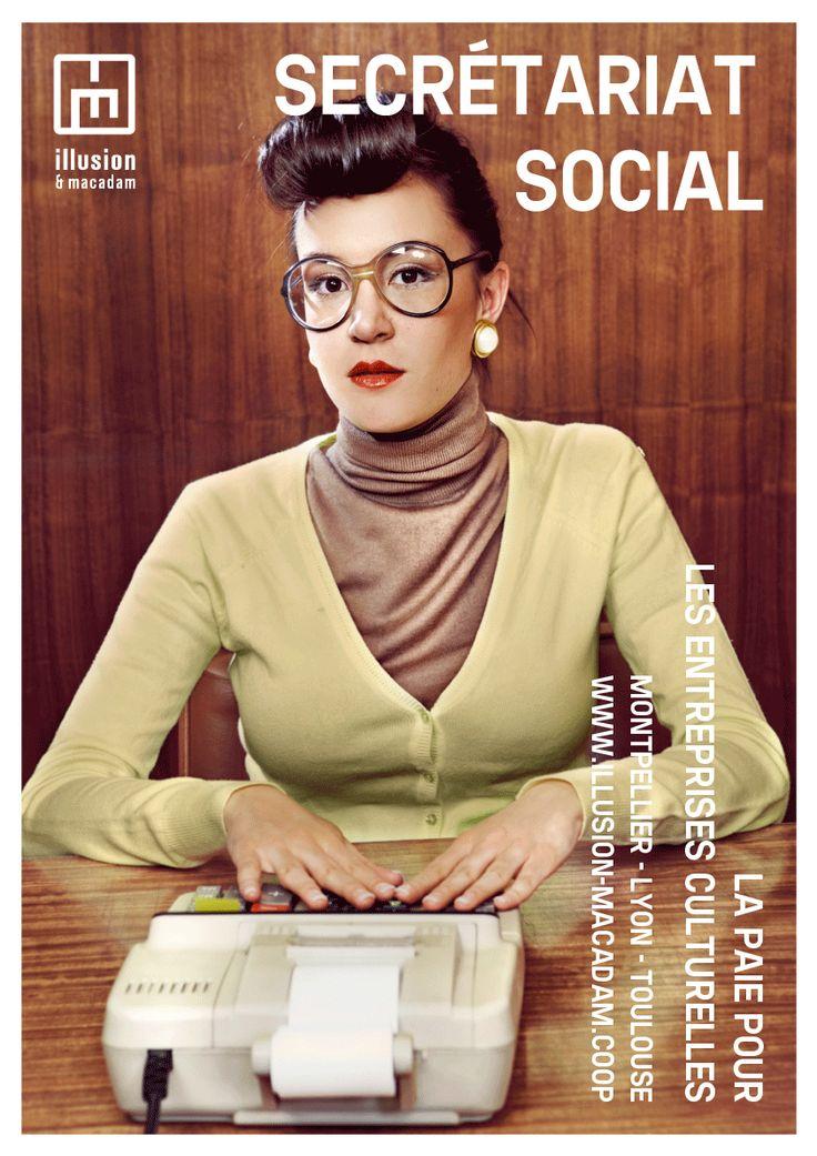 Affiche - Secrétariat Social - illusion & macadam. By Marielle Rossignol