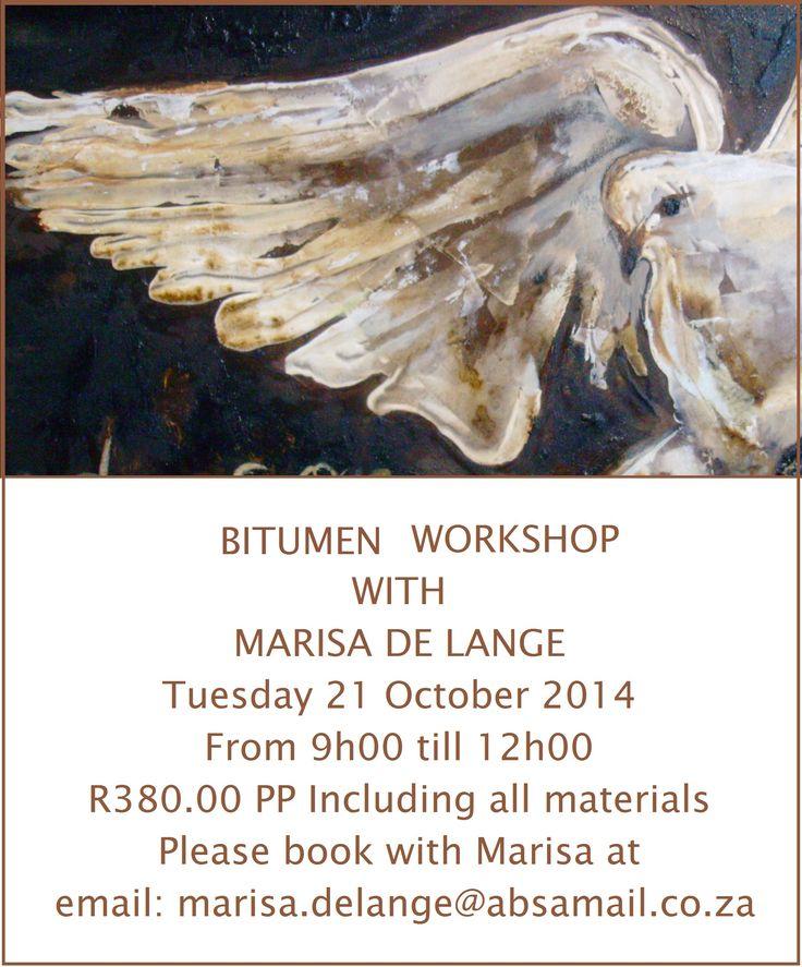 Bitumen workshop with Marissa de Lange