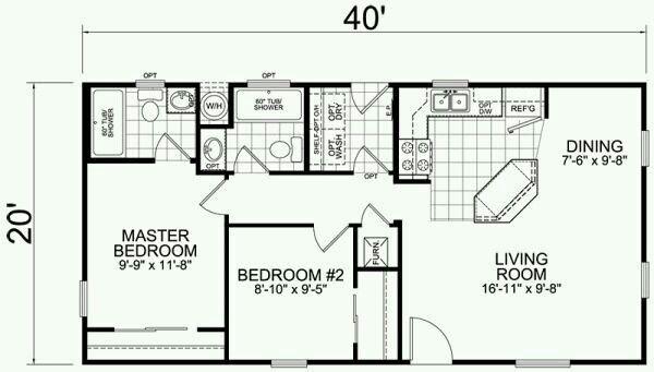 20 X 40 House Floor Plans Deco Househos Org In 2020 20x40 House Plans Cape House Plans Small Floor Plans