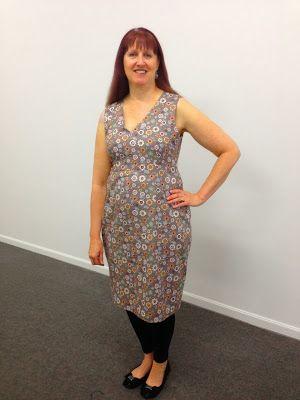a shift dress straight from my dress block