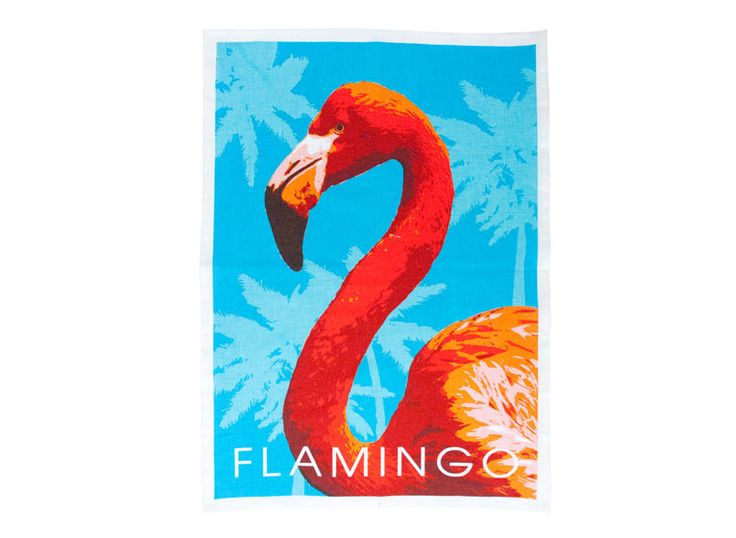 Flamingo Linen Tea Towel Super Absorbent Annabel Trends