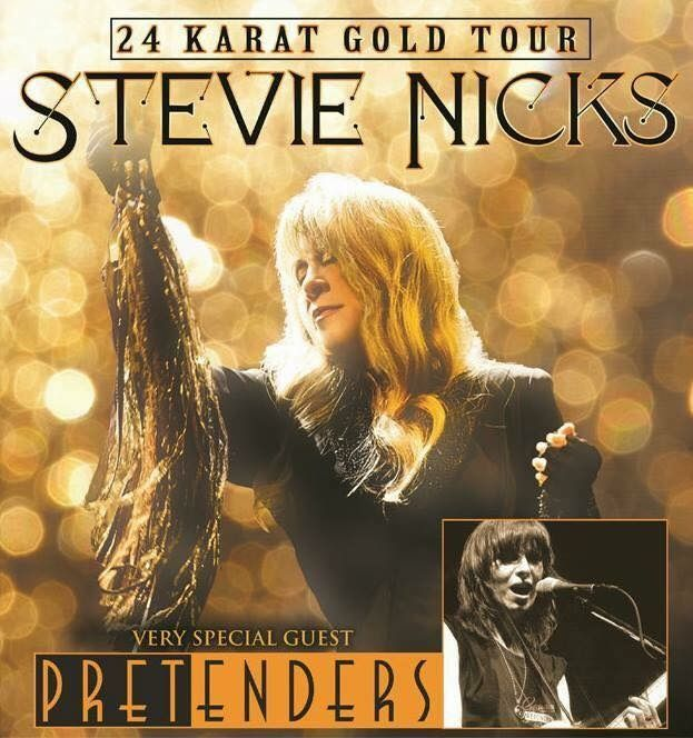 huge news   ~ ☆♥❤♥☆ ~   legendary Queen of Rock and Roll Stevie Nicks is embarking on a much anticipated solo tour later this year , 2016;. dubbed the '24 Karat Tour', the same name of her last album released on September 20th, 2014, will feature special guests -  The Pretenders, with Chrissie Hynde as the founder of this band ~ https://en.wikipedia.org/wiki/The_Pretenders