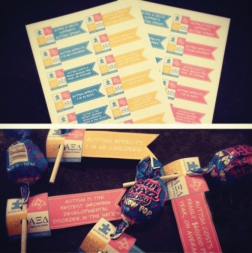 Take Tabling to the Next Level with Autism Speaks Lollipop Tags | Alpha Xi Delta