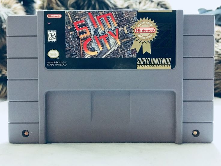 Vintage 1991 Sim City Nintendo SNES, Nintendo Games, Vintage Toys, Antique Alchemy